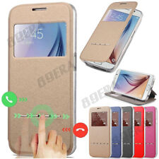 New Flip Folio Window PU Leather + TPU Case Kickstand Cover For Various Phones