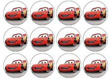 24 x Lightning mcqueen Edible Image Cupcake Toppers Pre-Cut
