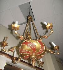 Biedermeier chandelier, early 19th century. Luster, Holzluster, alt, original