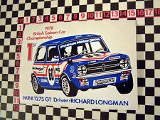 1978 CORSA autoadesivo per Mini 1275GT CLUBMAN-Speciale Tuning BRITISH LEYLAND BL