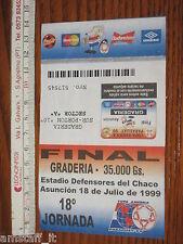 # URUGUAY BRASIL BIGLIETTO TICKET ENTRADA FINAL COPA AMERICA 1999