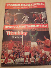 1978 LEAGUE CUP FINAL: LIVERPOOL v NOTTINGHAM FOREST