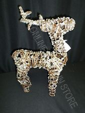 Pottery Barn Christmas Holiday Glitter Sparkle Frosted Twig Reindeer Decor Small