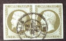 Timbre France, n°11, 1c vert, Obl, 1 timbre default,  cote 200e.