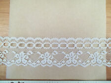 BEADING LACE 1-1/2 WHITE Scalloped Floral 10 yds. Lingerie Doll Clothes Crafts