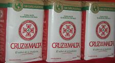 YERBA MATE TEA CRUZ DE MALTA: THREE 2.2-LBS - 6.12 LBS - 3 KGS - NEW PACKAGING