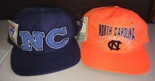 Vintage North Carolina Tar Heels Snap Back Hat Lot Of TWO Dead Stock NWT NCAA