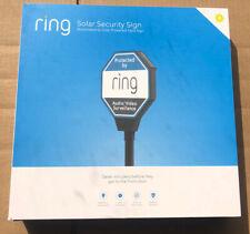 BRAND NEW SEALED Ring Solar Security Illuminated & Solar Powered Yard Sign