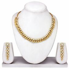 Exquisite Indian Bollywood Fashion Gold Tone Wedding Necklace Earrings Jewelry