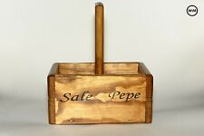 GARNECK Porta Sale in bamb/ù Porta Sale in Legno Porta Spezie Porta Sale E Pepe Porta Sale per Sale E Spezie