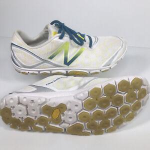 New Balance Minimus Mens Size 9.5 White Blue /yellow Vibran Trail Running Shoes