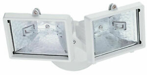 New Lithonia LightingTwin-Head Floodlight 300W Quarts Halogen Security Light
