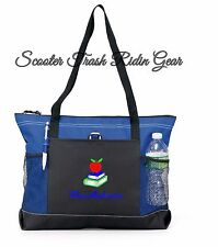 PERSONALIZED Tote bag book shopping Royal Blue monogrammed NEW Nurse Teacher