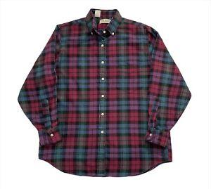 Women's L.L. Bean Vintage Check Flannel Chest Pocket Shirt - Medium