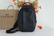 NWT Coach 89908 Edge Pack/Sling Pack Smooth Leather Black $398