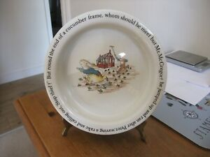 A Fabulous Wedgwood  Childrens Bowl With Peter Rabbit From Beatrix Potter