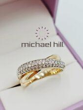MICHAEL HILL 10ct Gold Ring Diamond 0.50ct MHJ Size N1/2 - 7
