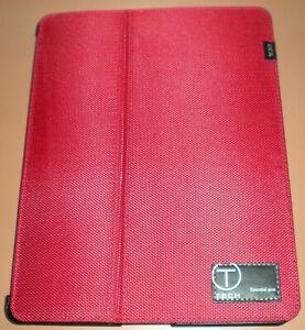 T-Tech by Tumi iPad 2 Portfolio Case, Crimson Red Nylon Fabric, Hard Back Cradle
