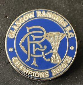 GLASGOW RANGERS Champions PIN BADGE