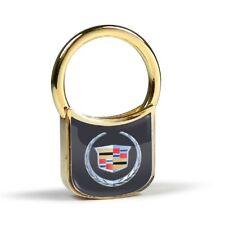 Portachiavi Cadillac logo gommato metallo dorato keyrings keychain key
