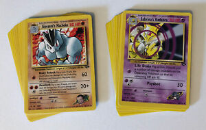Lot Of Gym Heroes Vintage Pokemon Cards