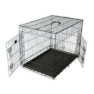XXL Foldable Dog Cage Folding Wire Metal Easy Assembly