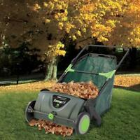 Yard Wise The Leaf Collecting Lawn Sweeper 21 Inch 26 Gallon Collection Basket