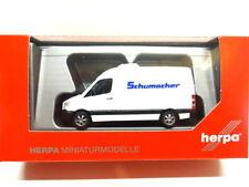 Herpa 093606 MB Mercedes Benz Sprinter Kasten Spedition Schumacher 1:87 Neu