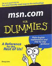 """VERY GOOD"" msn.com For Dummies, Lowe, Doug, Book"