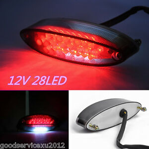 1 Pcs High Quality 12V 28LED Motorbike Brake Stop Light Tail Lamp DRL Waterproof