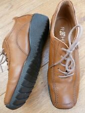 BNWOB ROHDE LEATHER LACE UP SHOES SIZE 3.5 WEDGE SOLES LEATHER LINING SQUARE TOE