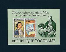 Togo bloc    mort de James Cook  de 1979   num:  125   **