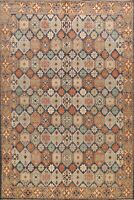 All-Over Khotan Vegetable Dye Geometric Oriental Area Rug Wool Hand-knotted 9x10