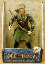 LORD OF THE RINGS DELUXE POSEABLE LEGOLAS FIGURE TOY BIZ 2004