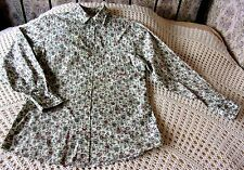 Mens floral printed shirt by JOE BROWNS Size S & 42 chest Cream with multi