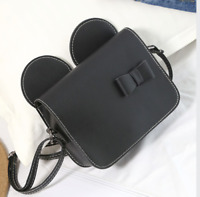 Women Mickey Mouse Ears Style Bow Vintage Shoulder Messenger Cross Body Tote Bag