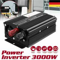 3000W Wechselrichter Spannungswandler USB 12V 220V Stromerzeugung USB Ladegerät