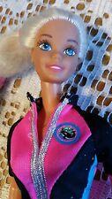 Muñeca Barbie Océano amigo 1996 Vintage Superstar Cara Piernas Bonitas Pintado De Negro