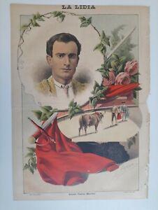 1893 La Lidia Revista Taurina Año XII Número 23 Eusebio Fuentes Torrijos Toledo
