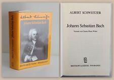 Albert Schweitzer Johann Sebastian Bach 1990 Biografie Komponist Leben & Werk xz