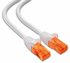 Mumbi 10m Cat5e Netzwerkkabel Patchkabel Ethernet Kabel LAN DSL WEISS