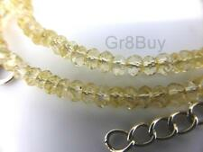 NECKLACE  YELLOW CITRINE - Faceted Bead