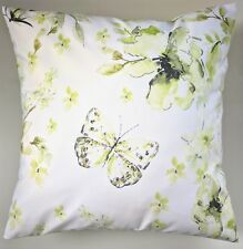 "16"" Cushion Cover in Next Spring Green Butterfly Matches Bedding Curtains"