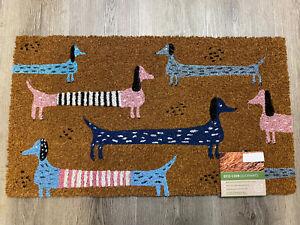 SAUSAGE DOG Coir Door Mat, 70 X 40cm, 100% Natural, ECO DOOR MAT