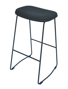4x Luca Bar Stool - Fabric Seat - Great For Bar Areas