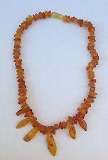 Beautiful Natural Handmade  Baltic Honey Amber Pebbles Choker Necklace 29g