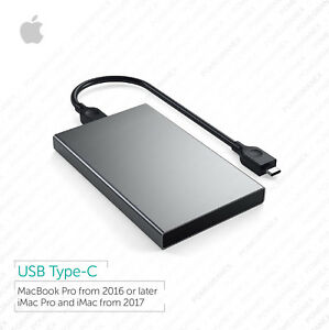 Macbook Pro, iMac, 1TB Portable External HDD :: USB-C :: Bootable, Plug and Play