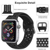 Silicone Sports Bracelet Wrist for Apple Watch Series 5 4 3 2 1 iWatch Straps