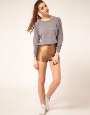 NWT American Apparel Women's Disco Shorts in Caramel Size XX-SMALL XXS #1
