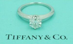 Tiffany & Co 0.80ct G VS1 GIA Platinum Diamond Solitaire Engagement Ring  3EX NR